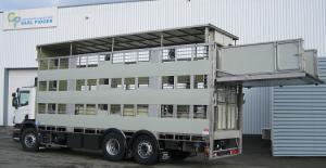Bétaillère 3 niveaux, nacelle peseuse, (cochonnière), transport animaux vivants